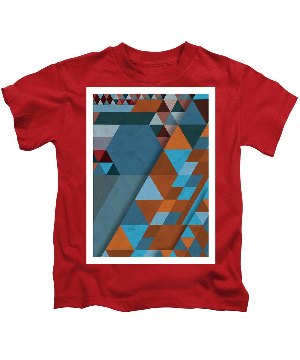 Geometry Kids T-Shirt featuring the digital art Geometric Beginnings by Juan Sierra