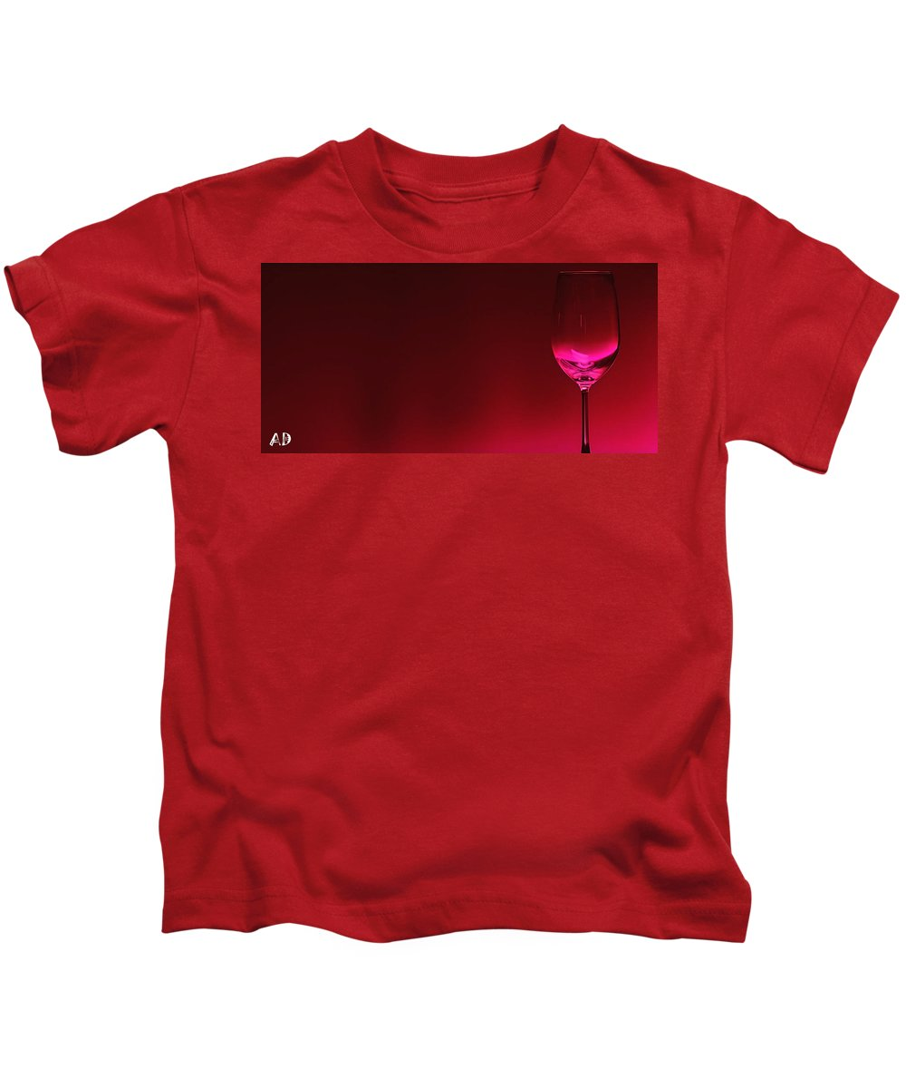 Red Apple Digital Art Kids T-Shirts