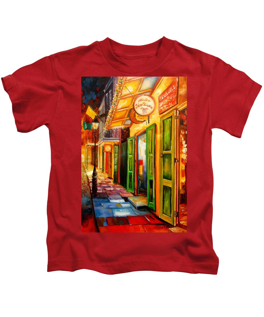 New Orleans Kids T-Shirt featuring the painting Going Back To New Orleans by Diane Millsap