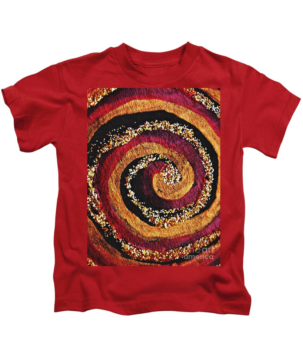Spiral Kids T-Shirt featuring the photograph Gold And Glitter 56 by Sarah Loft