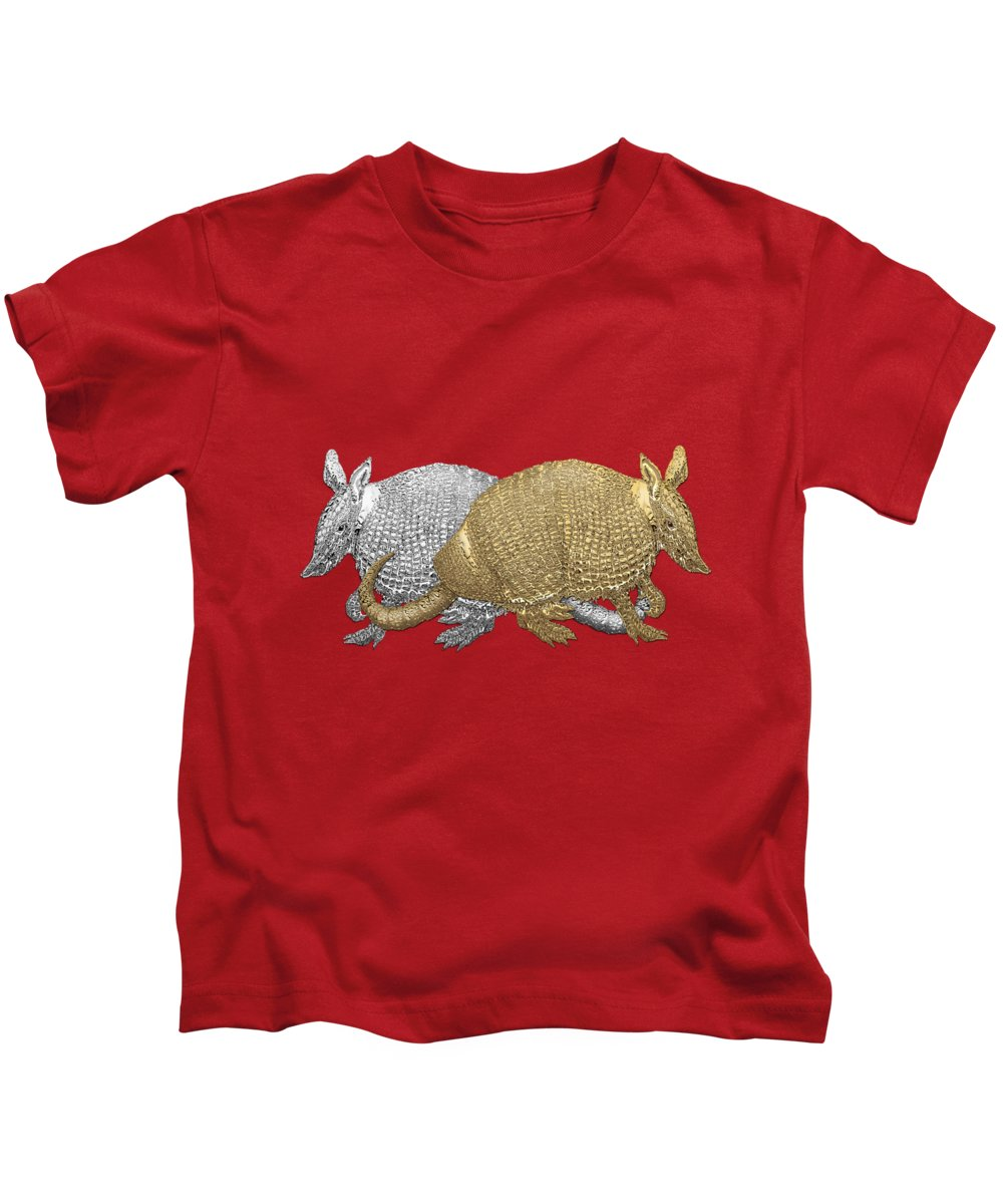 Silver And Gold Digital Art Kids T-Shirts