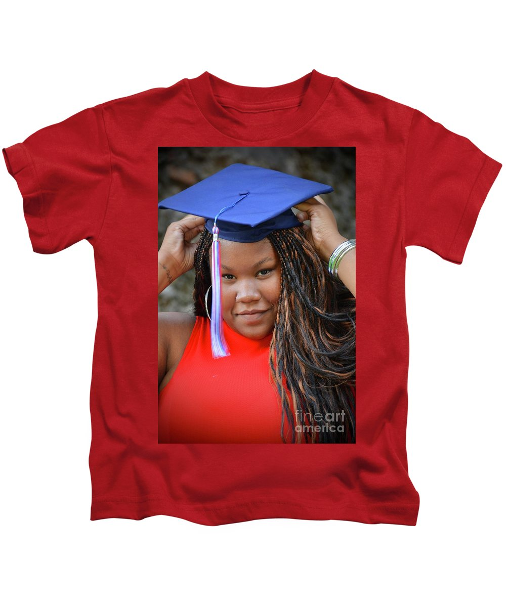 Braelyn Kids T-Shirt featuring the photograph Golden Hour by Photos By Zulma