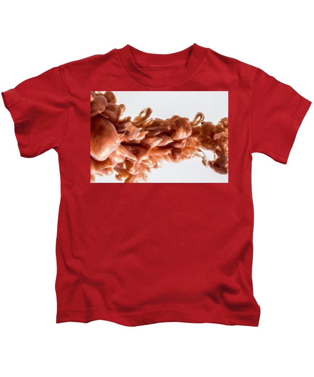 Ink Kids T-Shirt featuring the photograph Golden Revolver by Abstract Mind Studio
