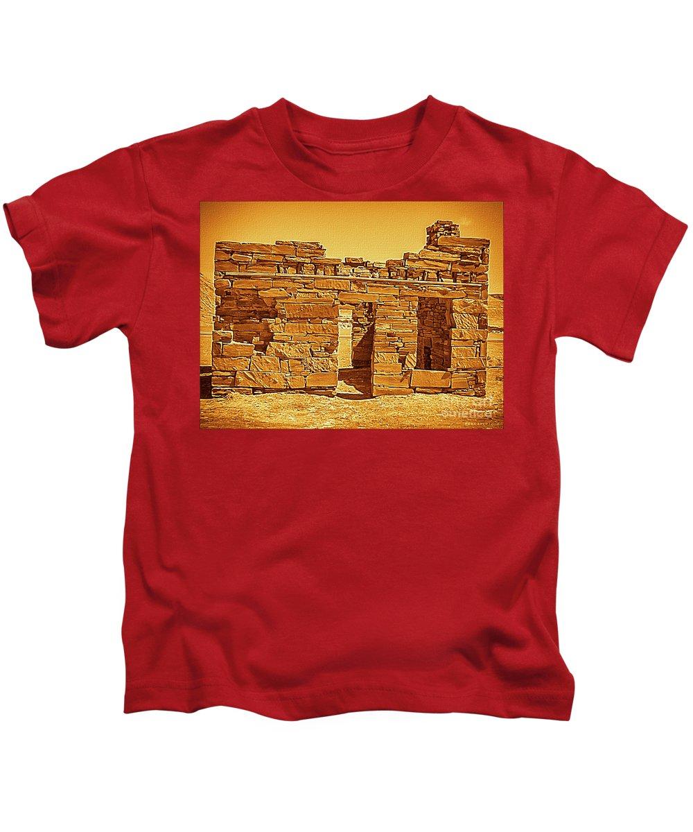 Mona Stut Kids T-Shirt featuring the photograph Golden Times by Mona Stut