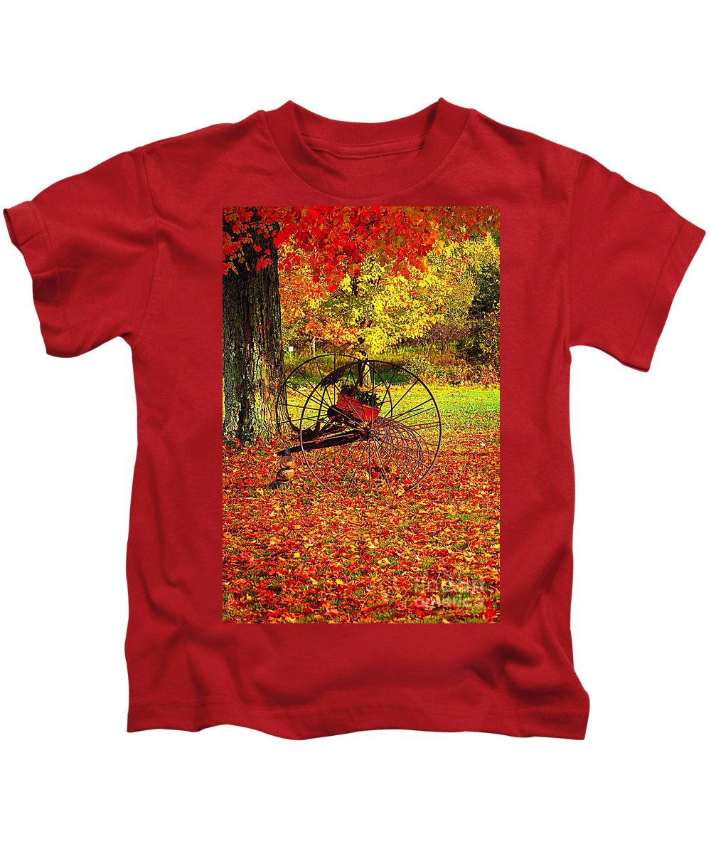 Diane Berry Kids T-Shirt featuring the photograph Gone With The Wind by Diane E Berry