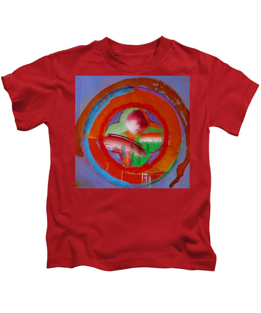 Love Kids T-Shirt featuring the painting Green Planet by Charles Stuart