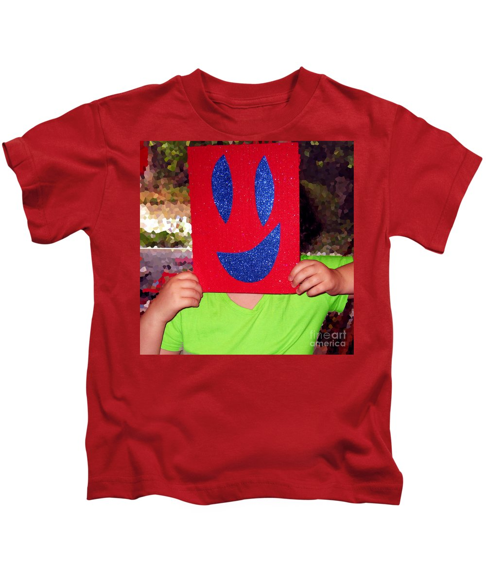 Happy Face Kids T-Shirt featuring the photograph Happy Face by Rhonda Chase