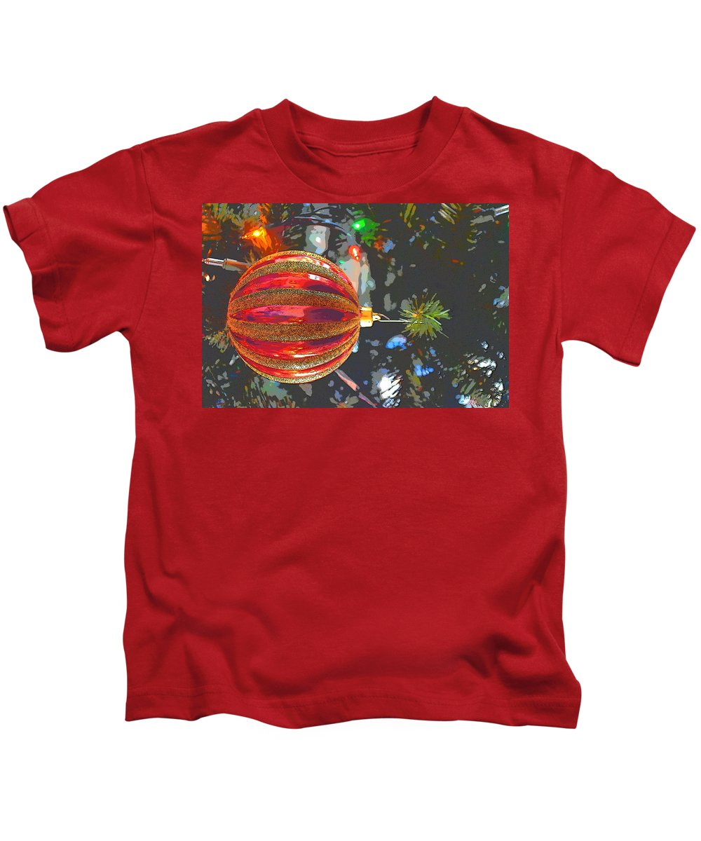 Ornament Kids T-Shirt featuring the photograph Happy Holidays by Thomas Sexton