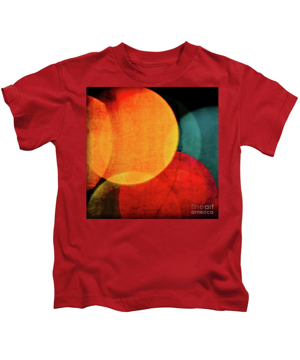 Harvest Moon Kids T-Shirt featuring the photograph Harvest Moons Square by Doug Sturgess