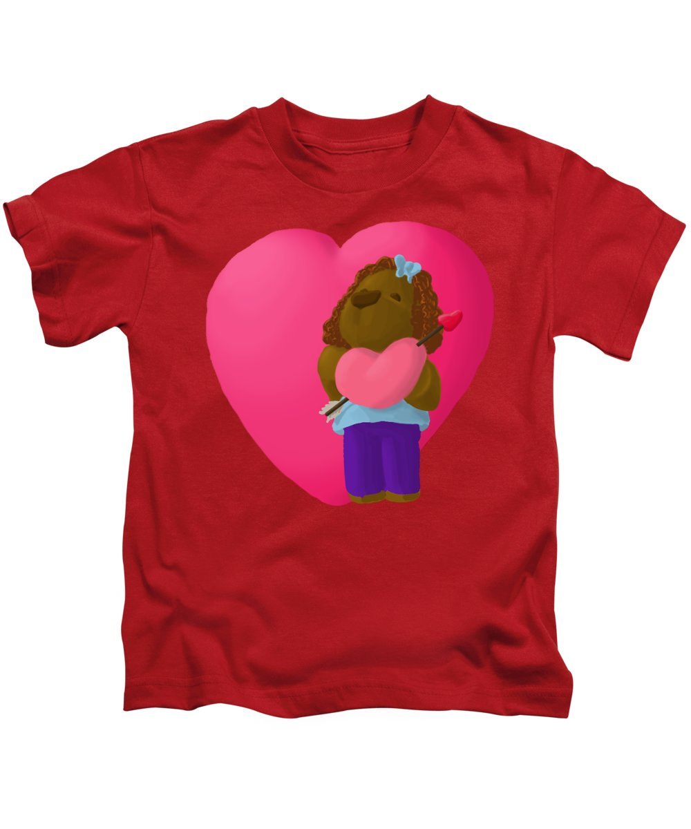 Valentine's Day Kids T-Shirt featuring the painting Have A Heart by Jason Sharpe