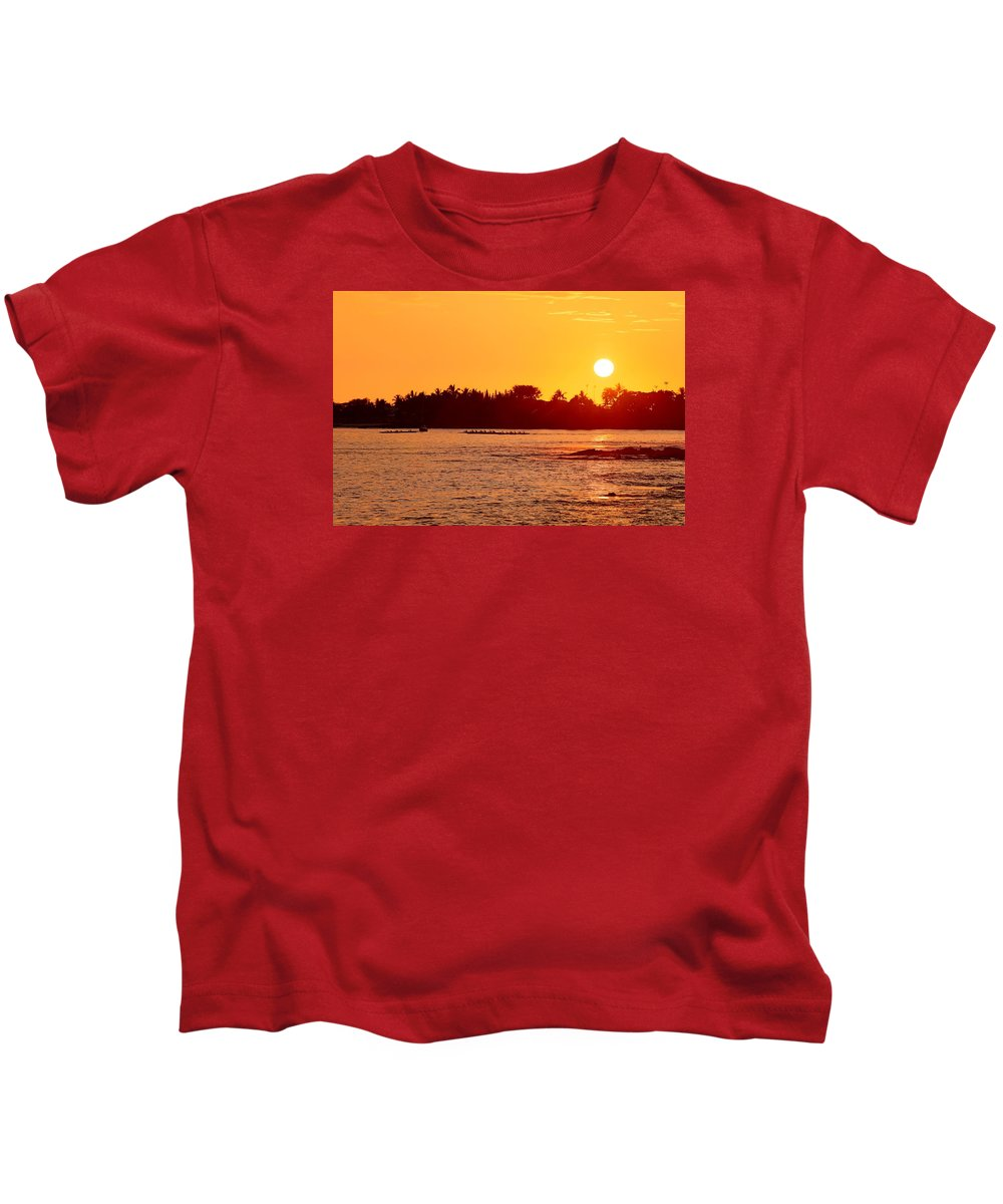 Sun Kids T-Shirt featuring the photograph Hawaiian Sunset by Shaun Pang