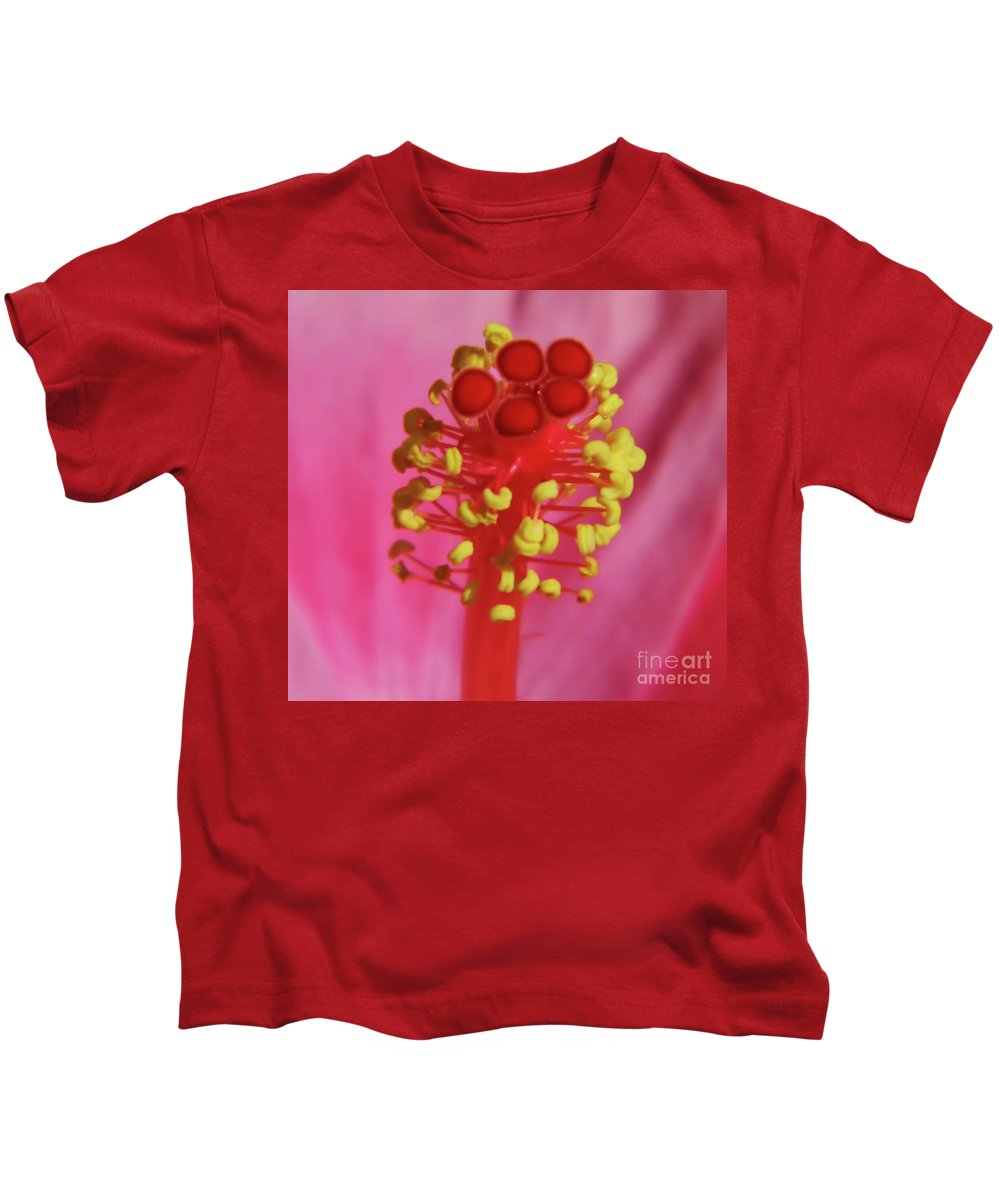 Hibiscus Kids T-Shirt featuring the photograph Hibiscus Up Close by D Hackett
