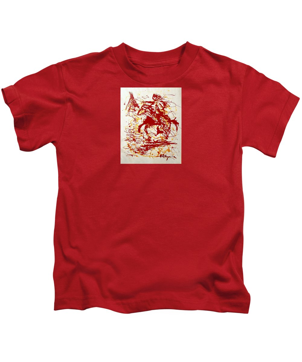Indian Kids T-Shirt featuring the painting History In Blood by J R Seymour