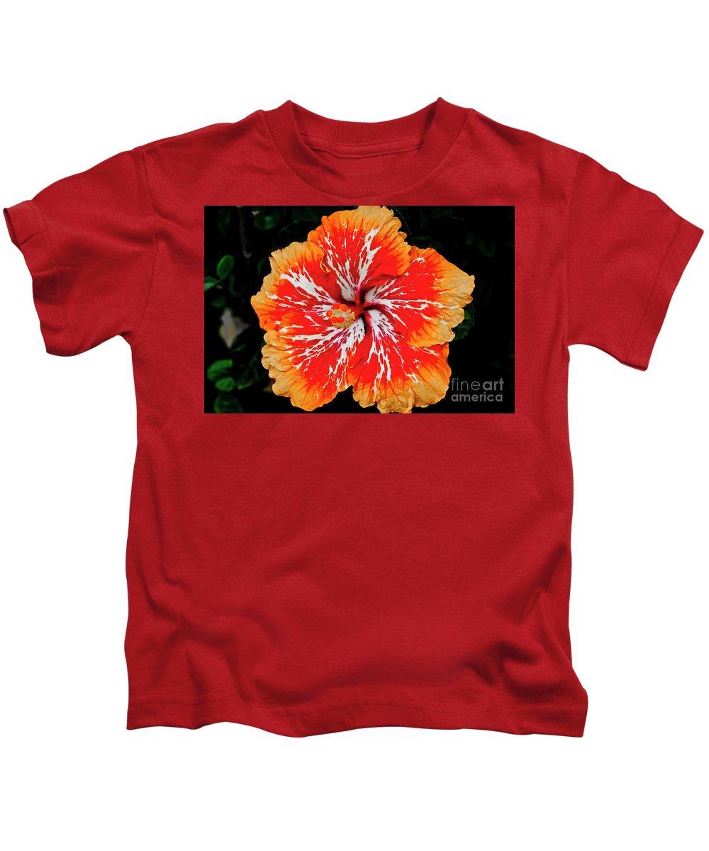 Flower Kids T-Shirt featuring the photograph Hybrid Hibiscus II Maui Hawaii by Jim Cazel