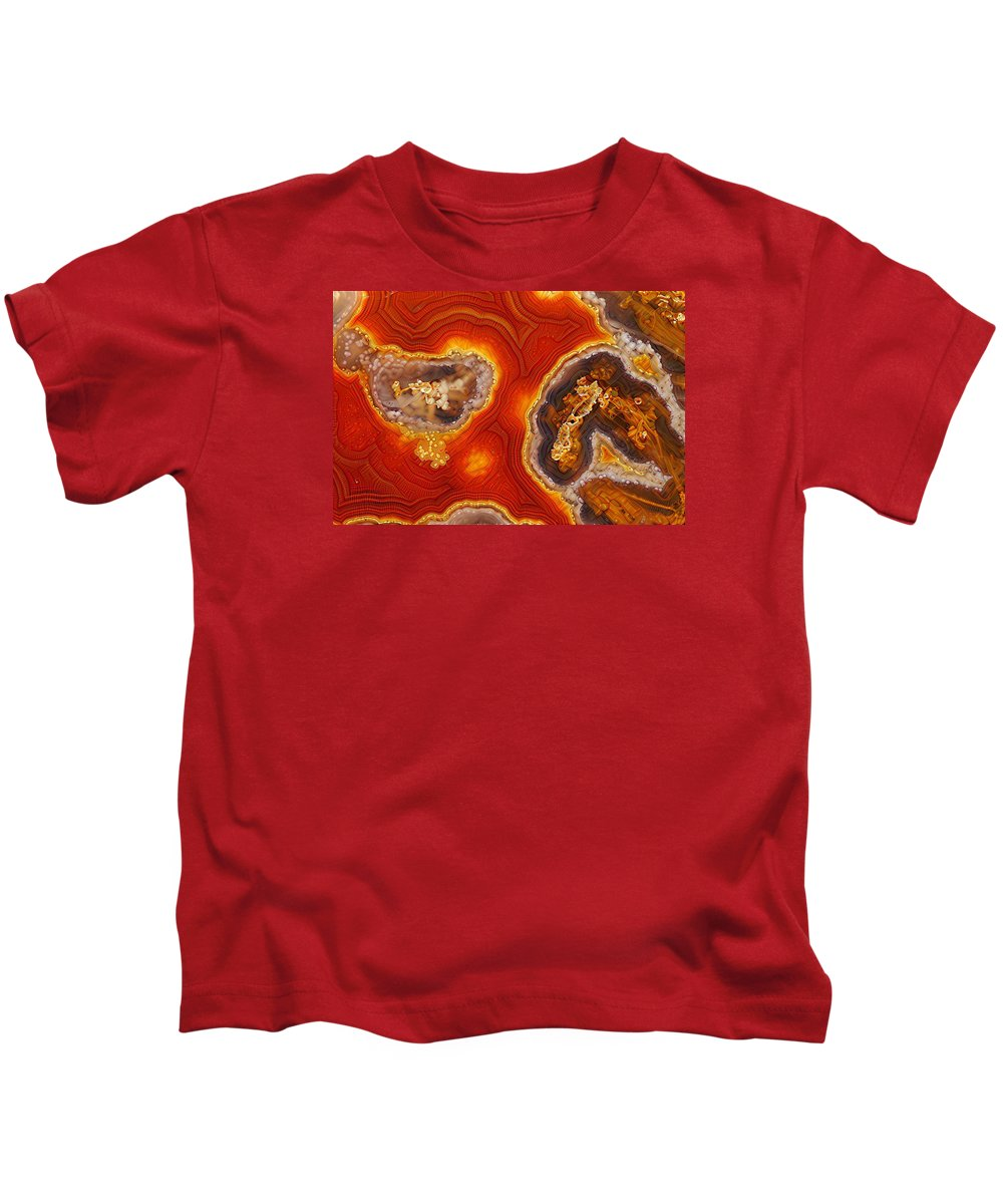 Agate Art Kids T-Shirt featuring the photograph Inner Mystery by Bill Morgenstern