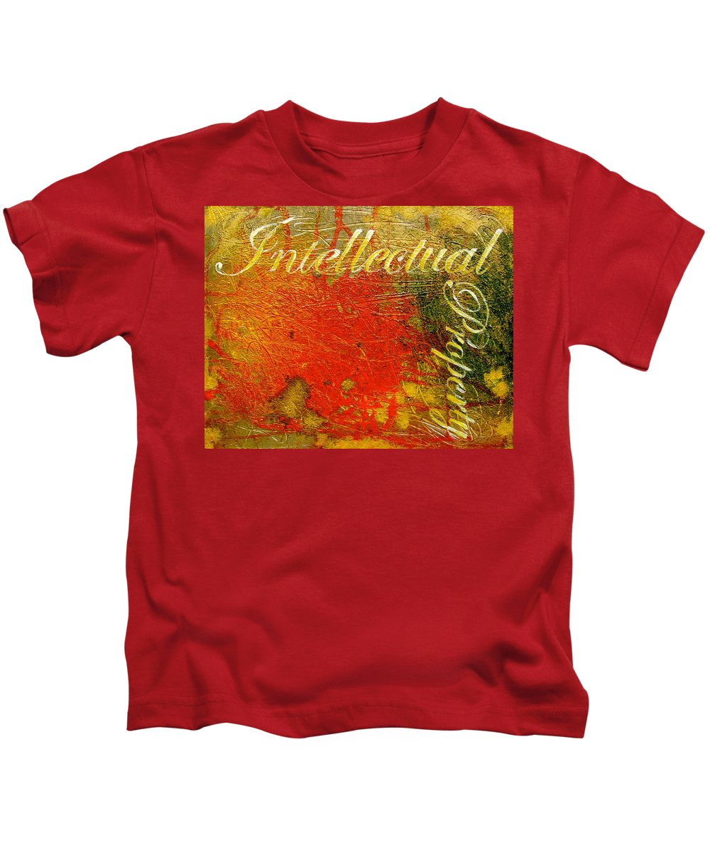 Abstract Art Kids T-Shirt featuring the painting Intellectual Property by Laura Pierre-Louis