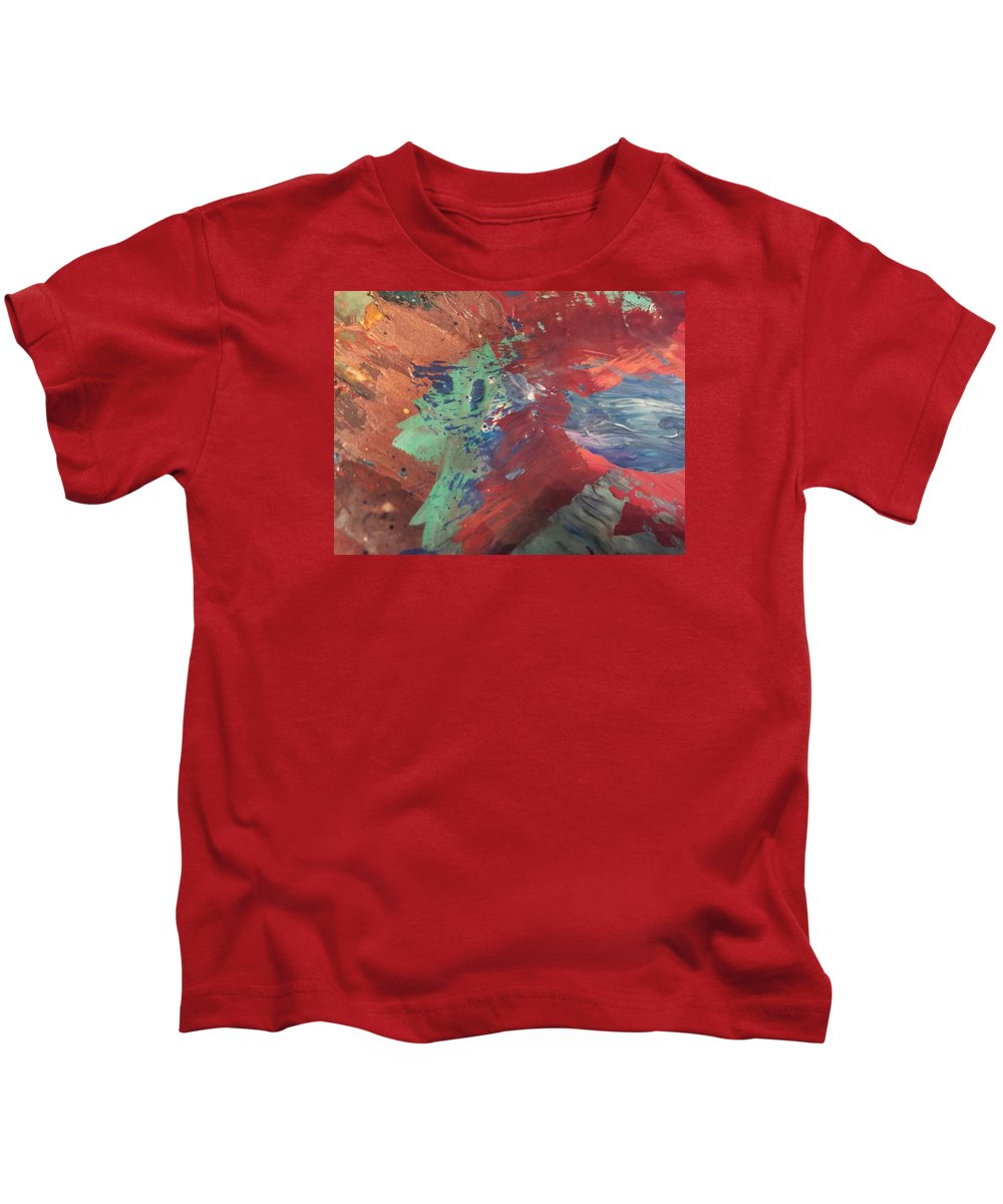 Art Kids T-Shirt featuring the painting Intent by Edward Paul
