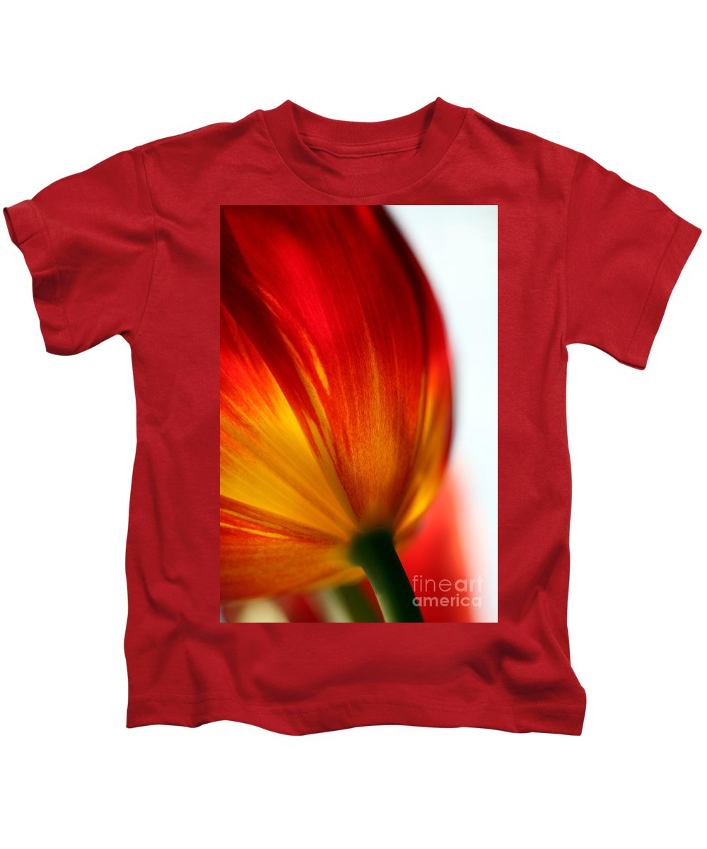 Tulip Kids T-Shirt featuring the photograph Introverted by Amanda Barcon