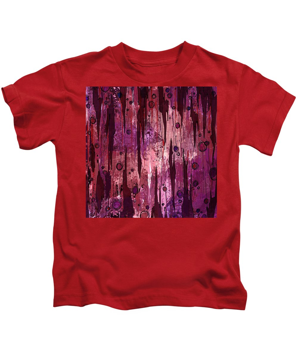 Abstract Kids T-Shirt featuring the digital art Jagged Edges by Rachel Christine Nowicki