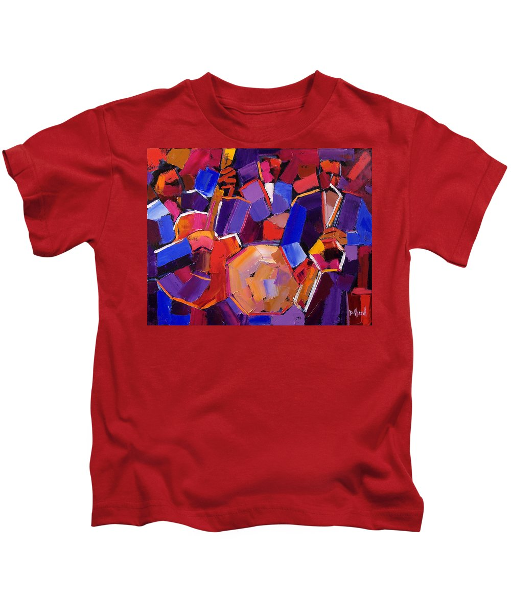 Jazz Kids T-Shirt featuring the painting Jazz Angles Two by Debra Hurd