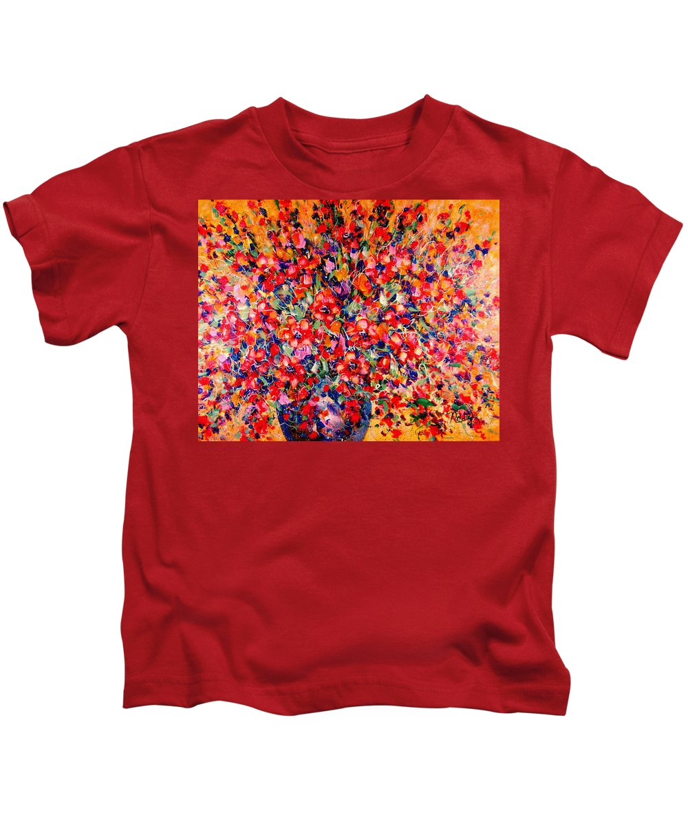 Flowers Kids T-Shirt featuring the painting Joy Of Summer by Natalie Holland