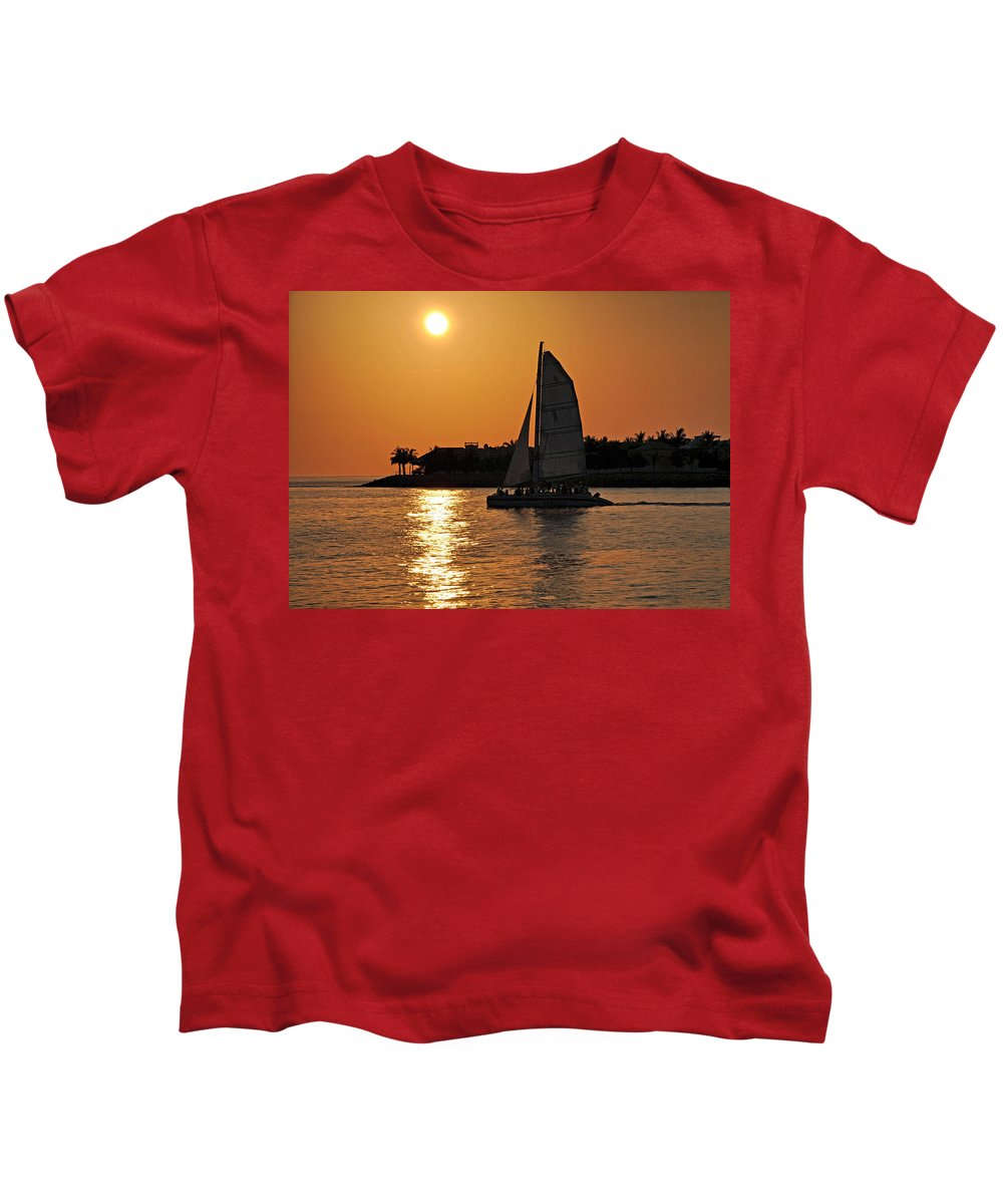Key West Kids T-Shirt featuring the photograph Key West by Steven Sparks