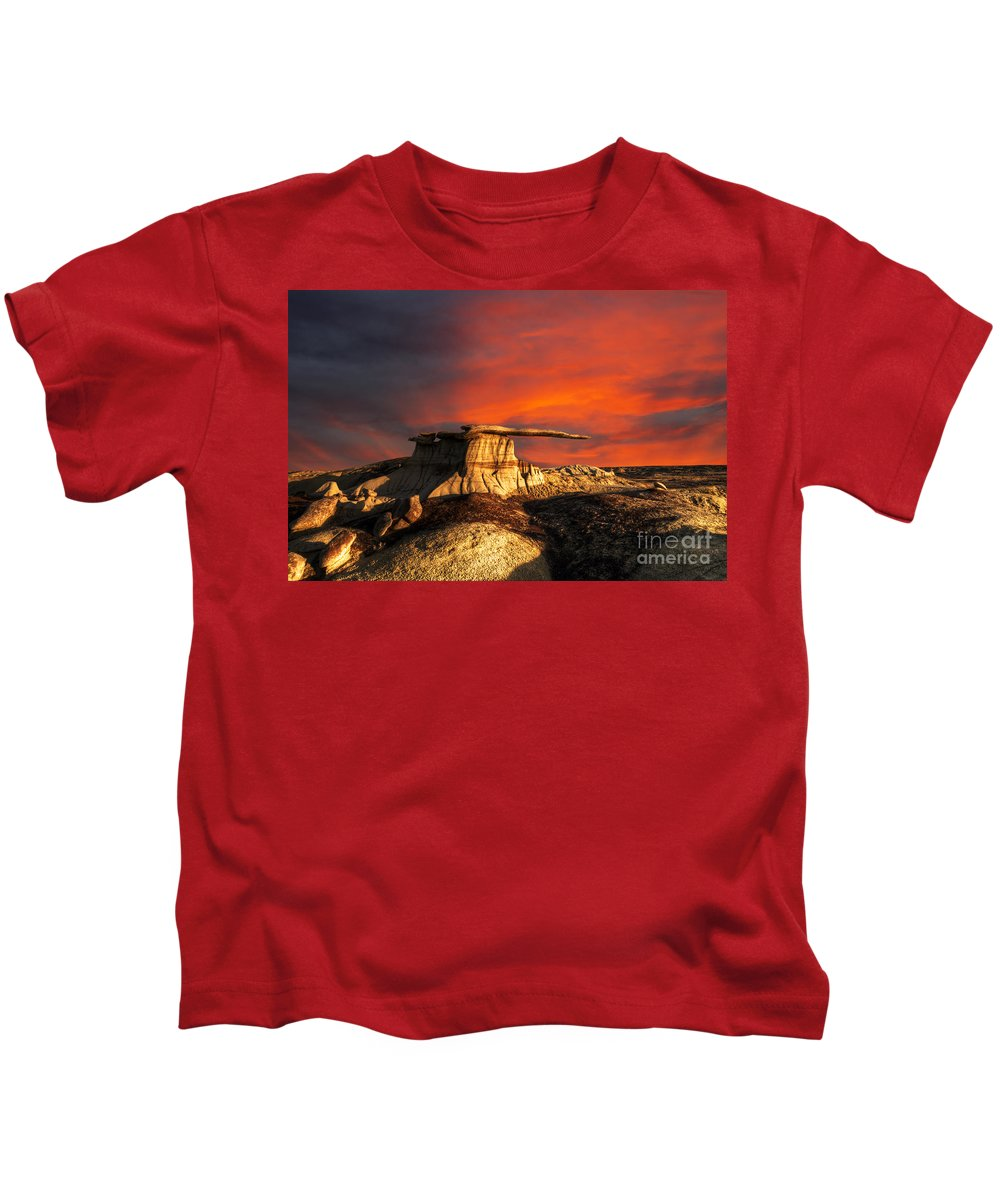 Hoodoo Kids T-Shirt featuring the photograph Where Heaven Meets Earth 2 by Bob Christopher
