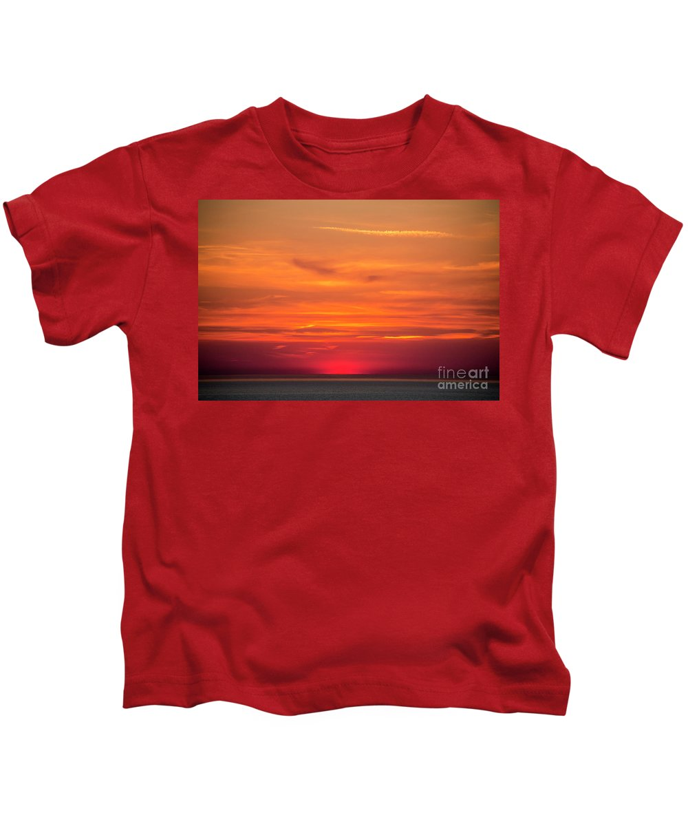 Midnight Sun Kids T-Shirt featuring the photograph Land of the almost midnight sun by Sheila Smart Fine Art Photography