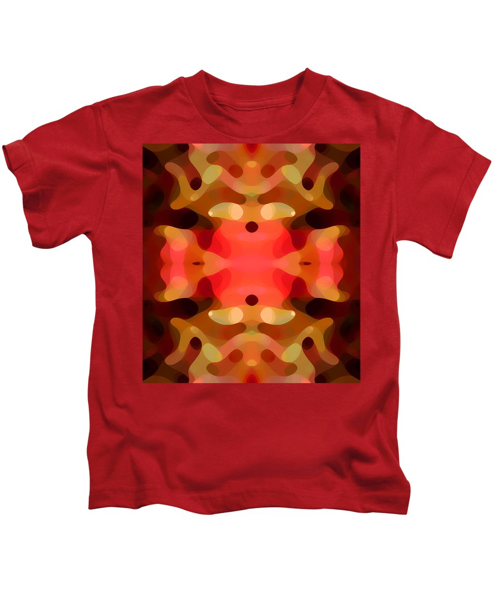 Abstract Painting Kids T-Shirt featuring the digital art Las Tunas Abstract Pattern by Amy Vangsgard