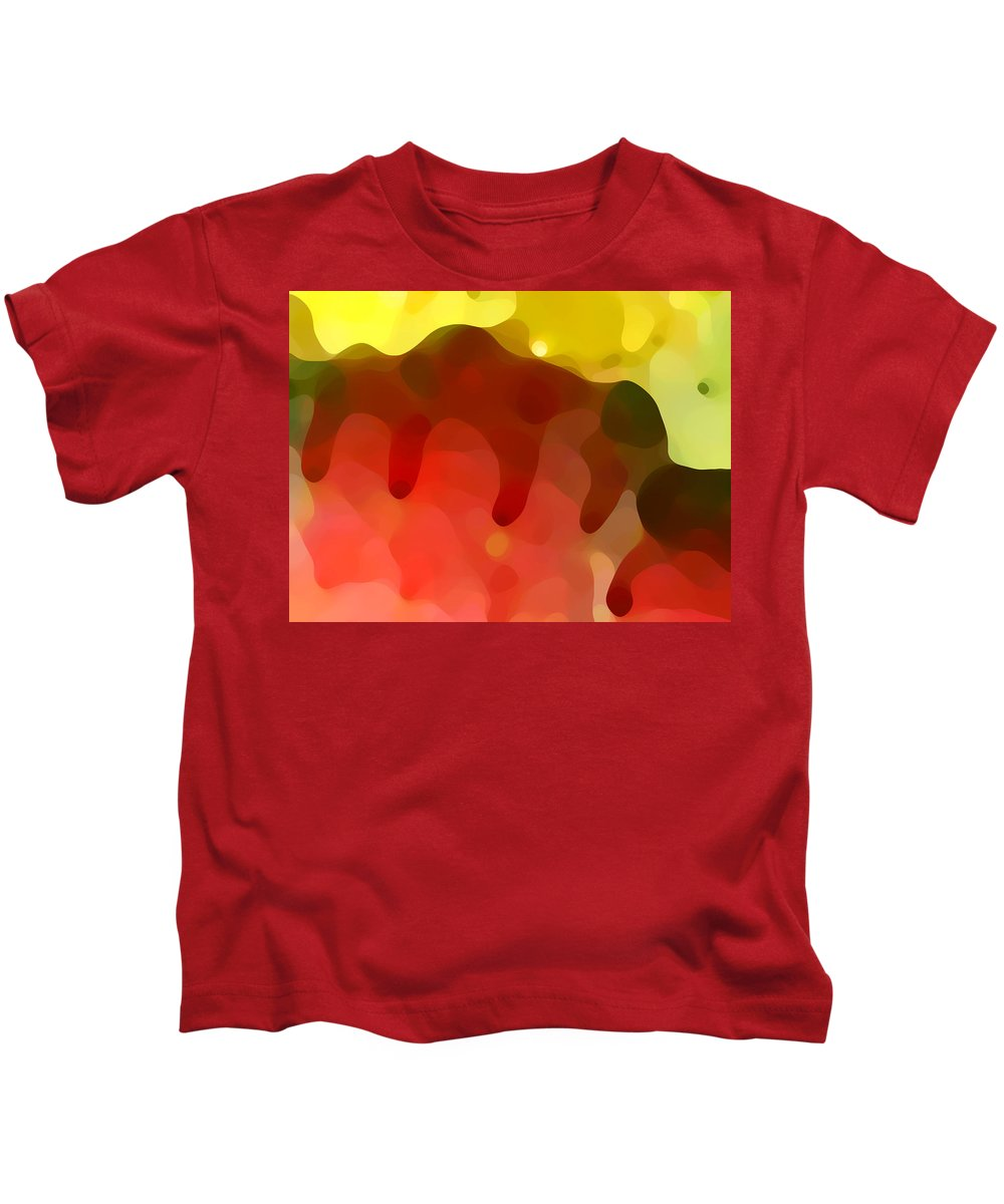 Abstract Kids T-Shirt featuring the painting Las Tunas Ridge by Amy Vangsgard