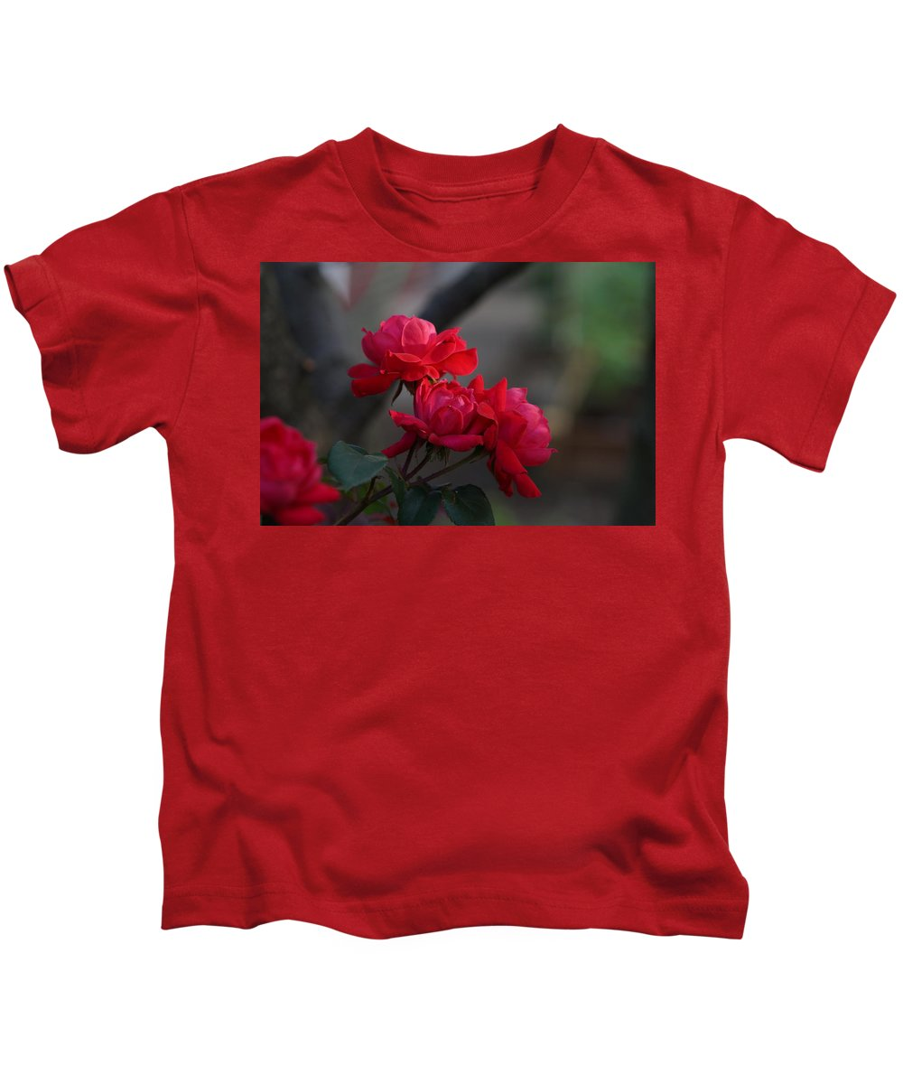 Red Kids T-Shirt featuring the photograph Last Mornings by Carrie Goeringer