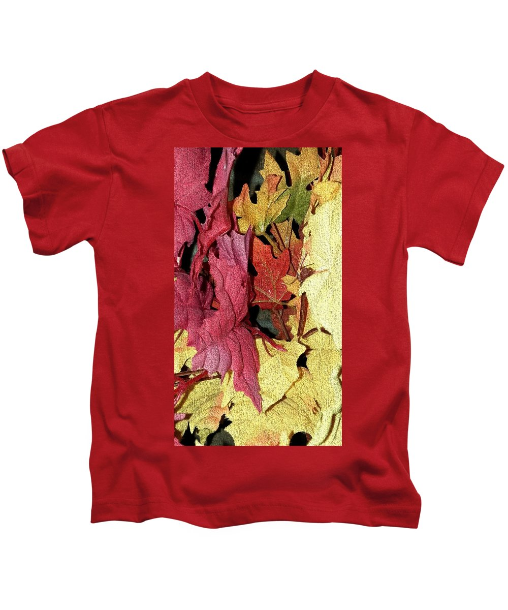 Kids T-Shirt featuring the photograph Leaves Fall by Ann Hughes