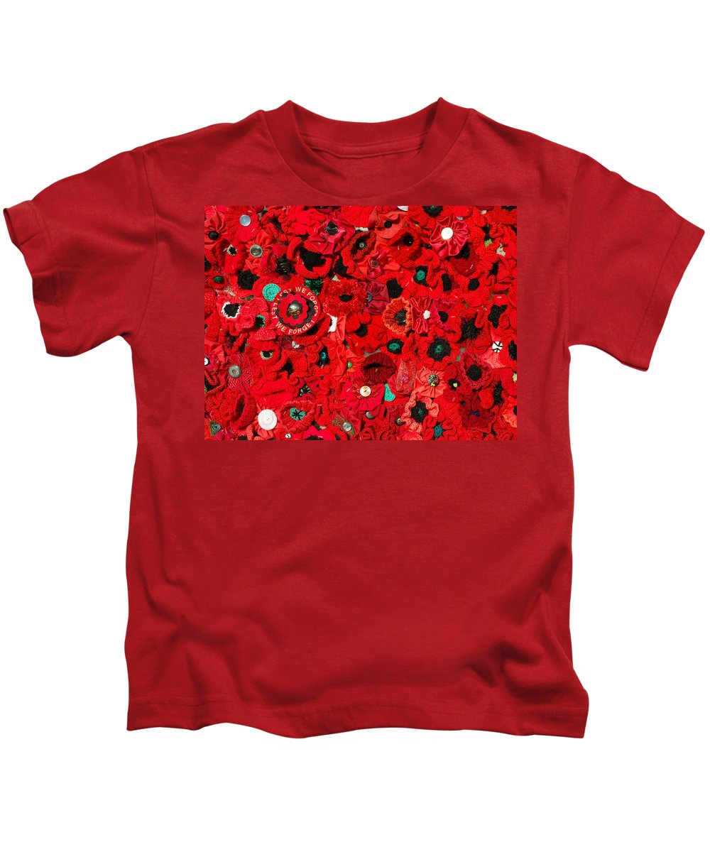Lest We Forget Kids T-Shirt featuring the photograph Lest We Forget by Wayne Sherriff