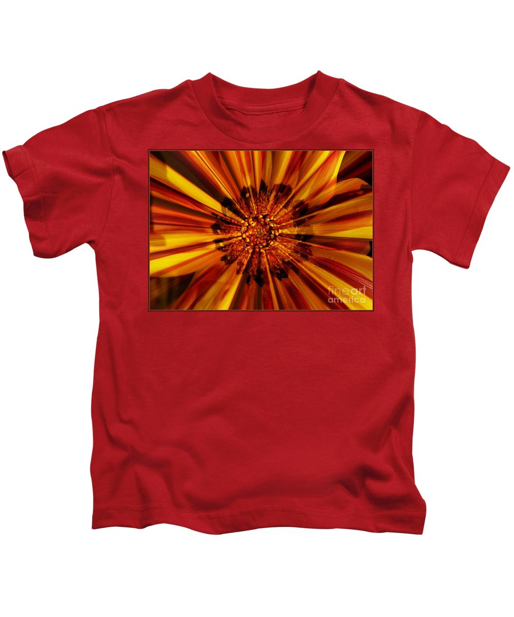 Nature Abstract Kids T-Shirt featuring the photograph Let Your Light Shine by Carol Groenen