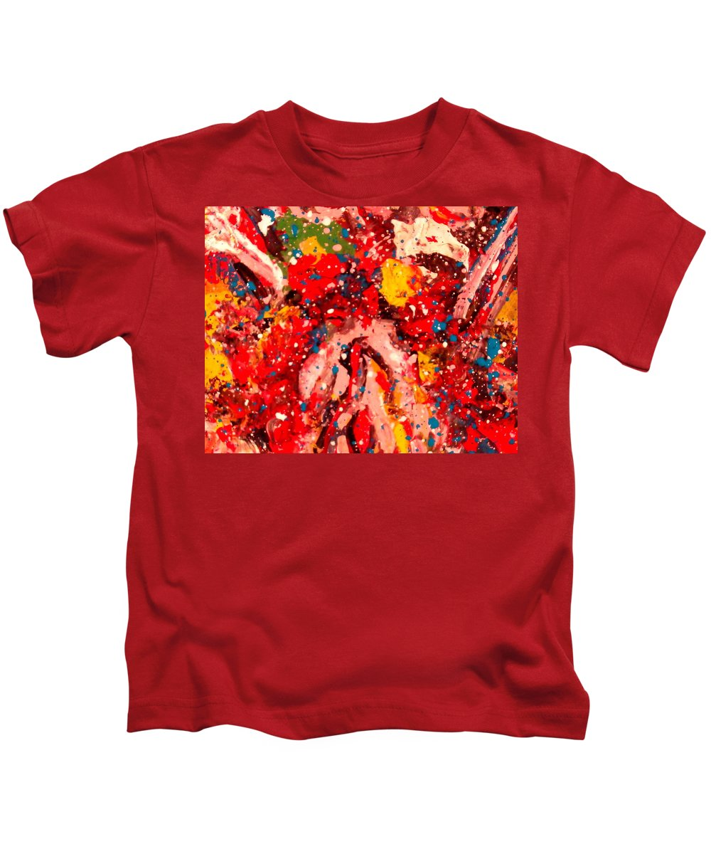 Abstract Kids T-Shirt featuring the painting Life Force by Natalie Holland