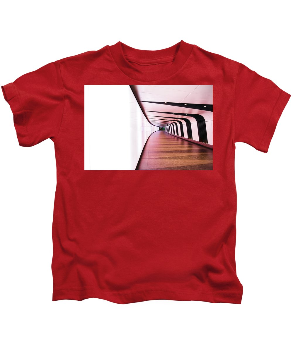 Tube Kids T-Shirt featuring the photograph Light At End Of Tunnel by Christopher Carthern