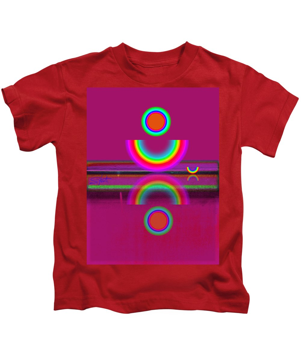 Reflections Kids T-Shirt featuring the painting Light Red by Charles Stuart