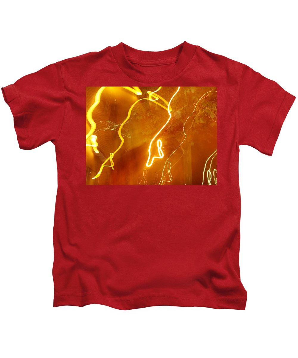 Photograph Kids T-Shirt featuring the photograph Lights That Eat Trees by Thomas Valentine