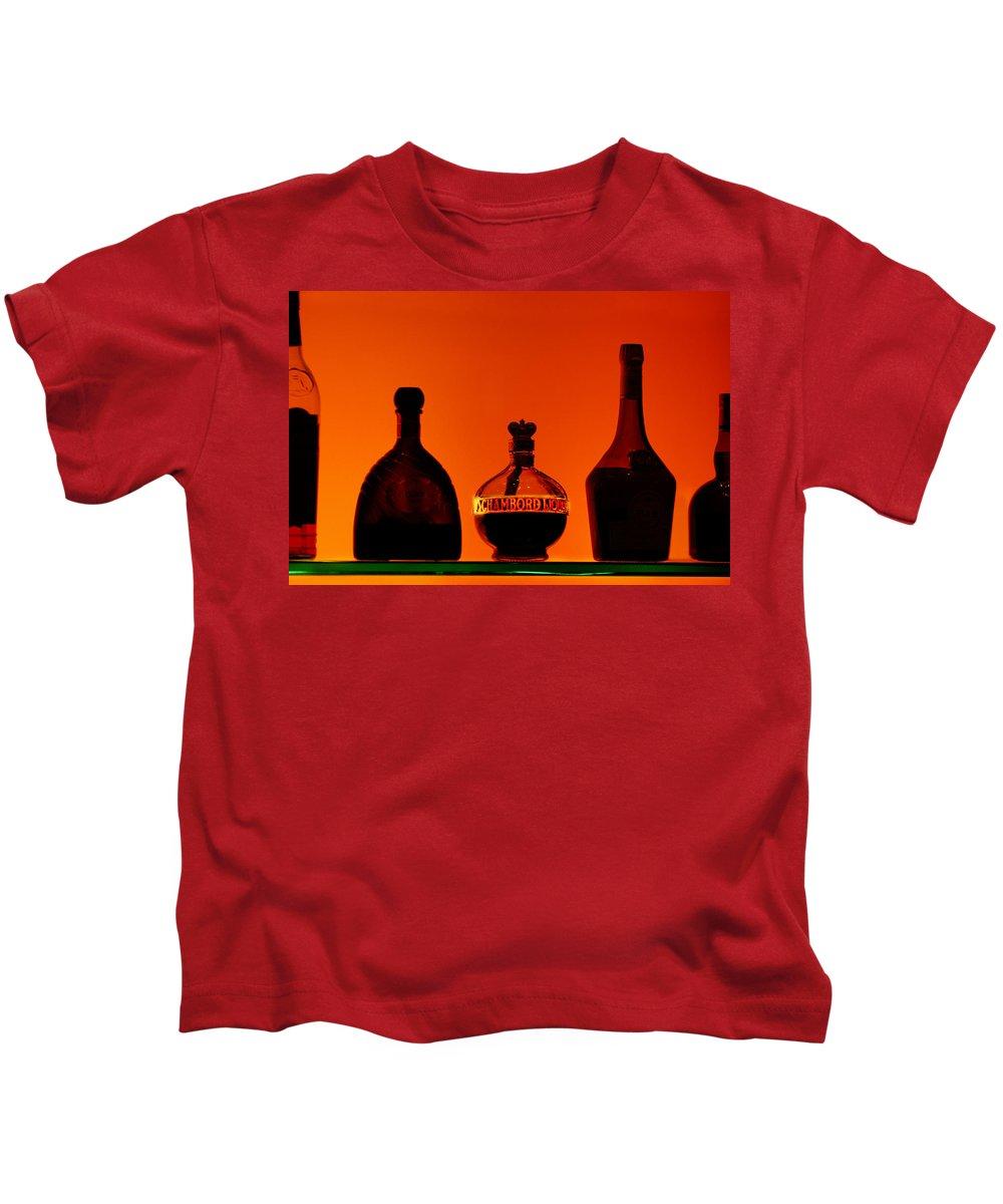 Still Life Kids T-Shirt featuring the photograph Liquor Still Life by Jill Reger