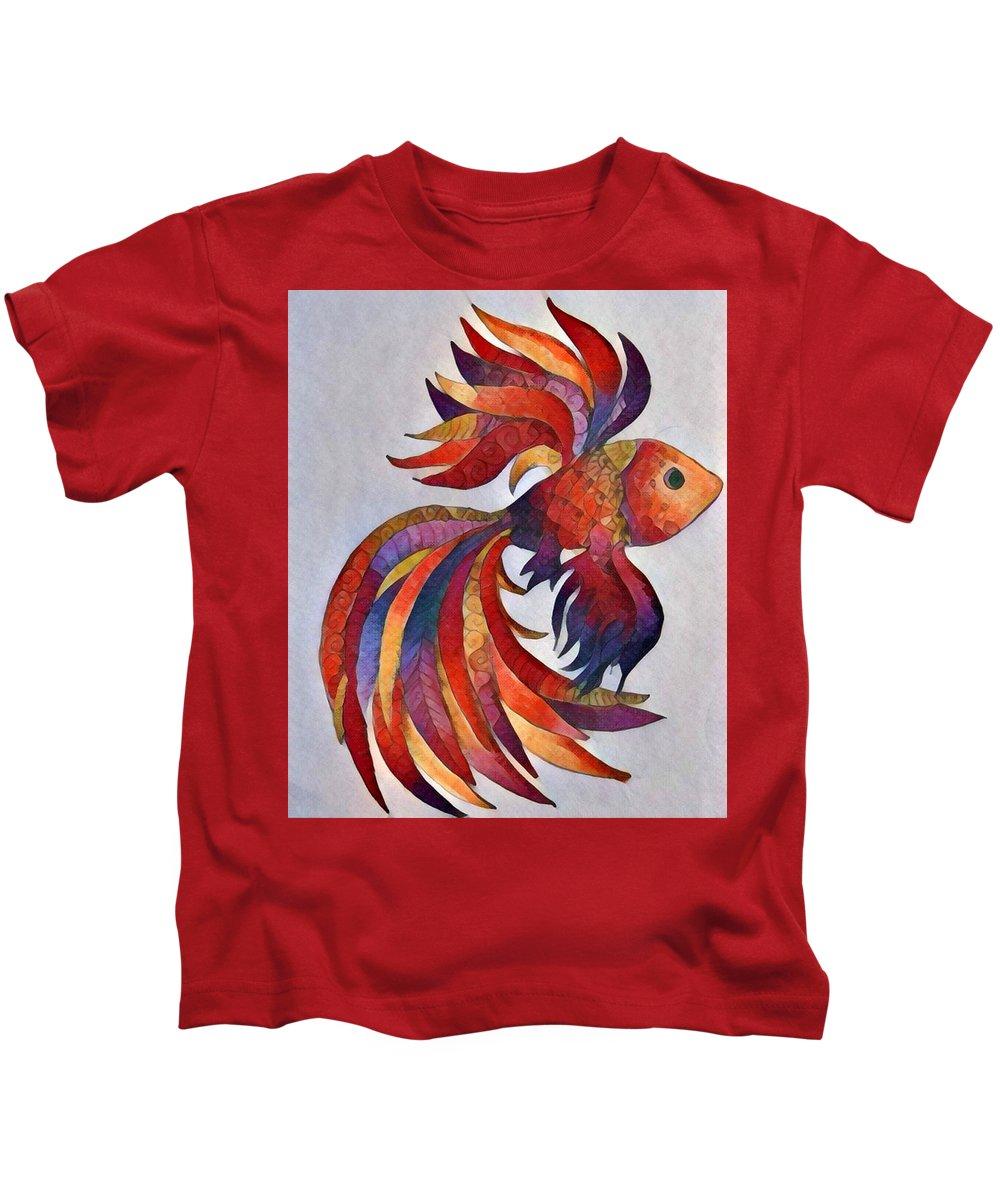 Fish Kids T-Shirt featuring the digital art Little Fish by Megan Walsh