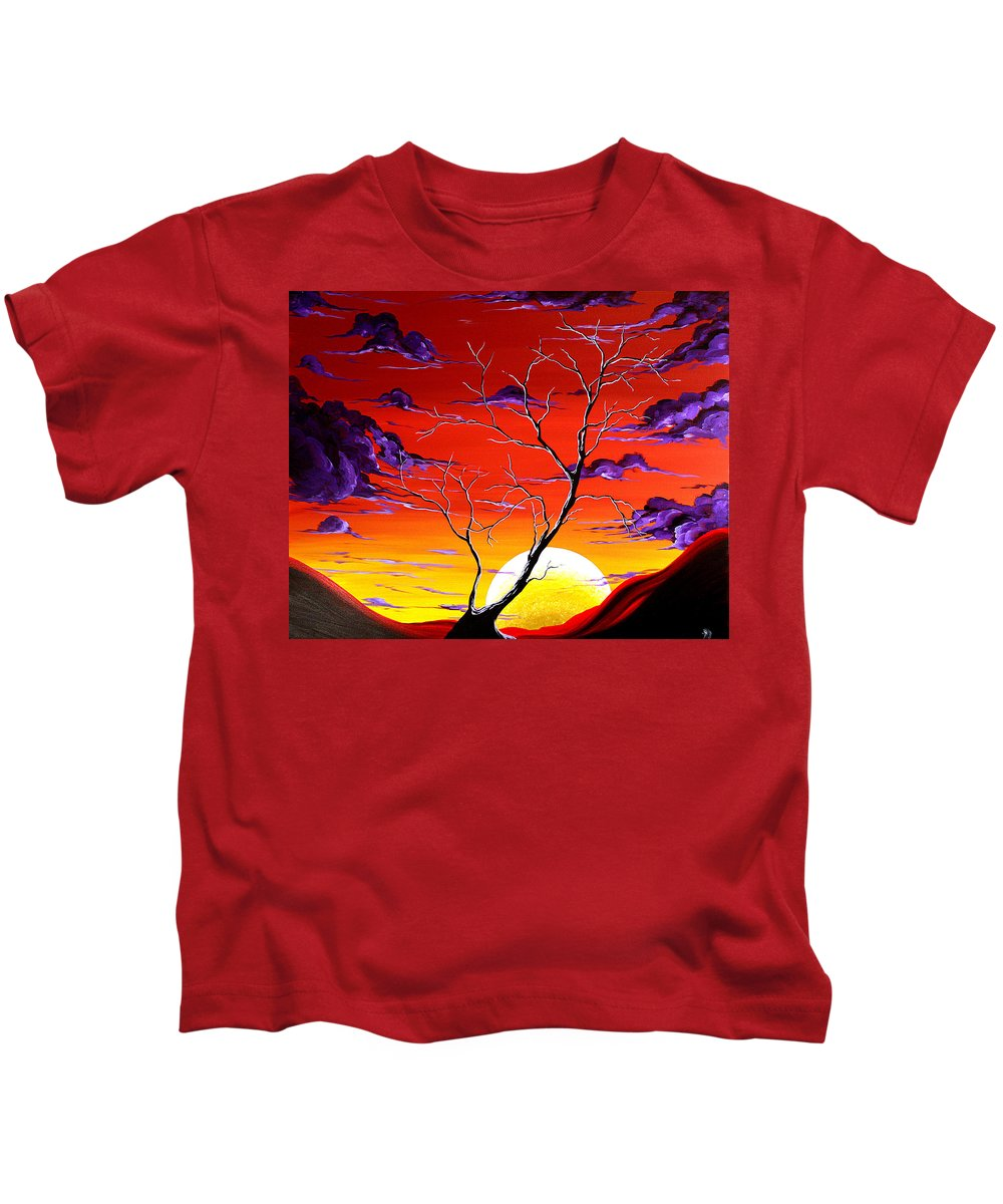 Art Kids T-Shirt featuring the painting Lonely Soul By Madart by Megan Duncanson