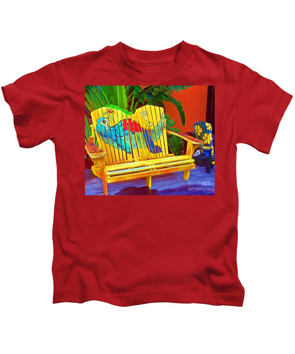Tropical Kids T-Shirt featuring the photograph Lost Shaker Of Salt 2 by Debbi Granruth