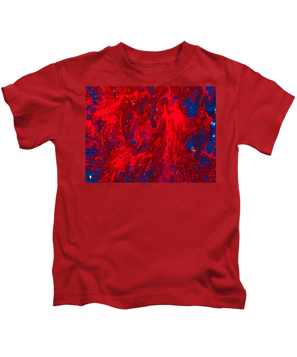 Abstract Art Kids T-Shirt featuring the painting Lost Souls by Natalie Holland