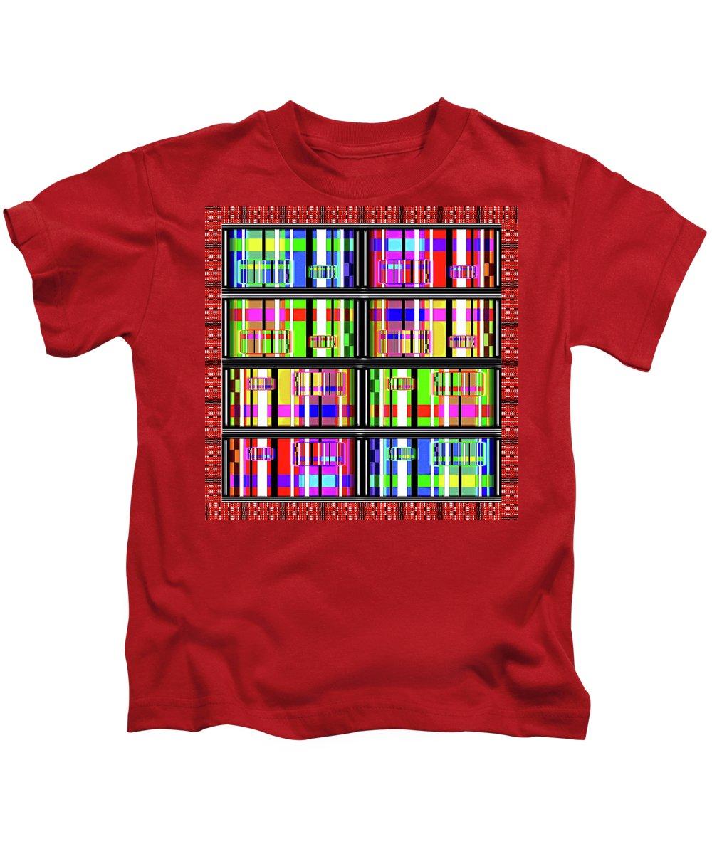 Digital Kids T-Shirt featuring the digital art Loud Digits by Gordon Dean II