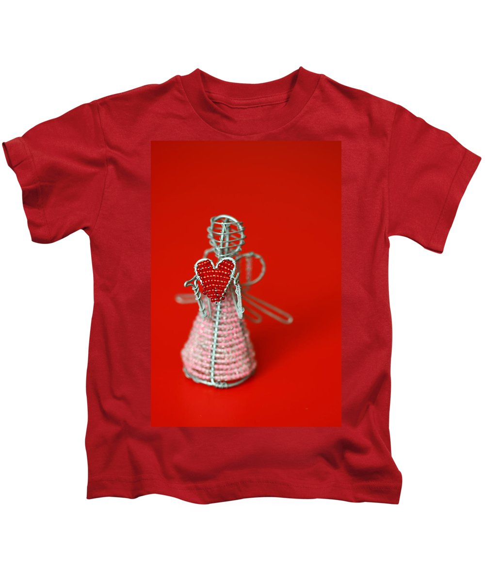 Toy Kids T-Shirt featuring the photograph Love Angel by Evelina Kremsdorf