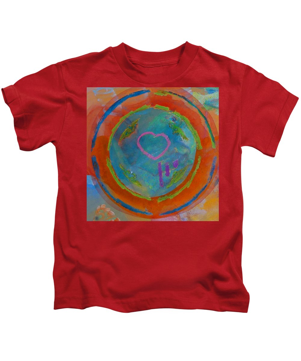 Logo Kids T-Shirt featuring the painting Love The Sea by Charles Stuart