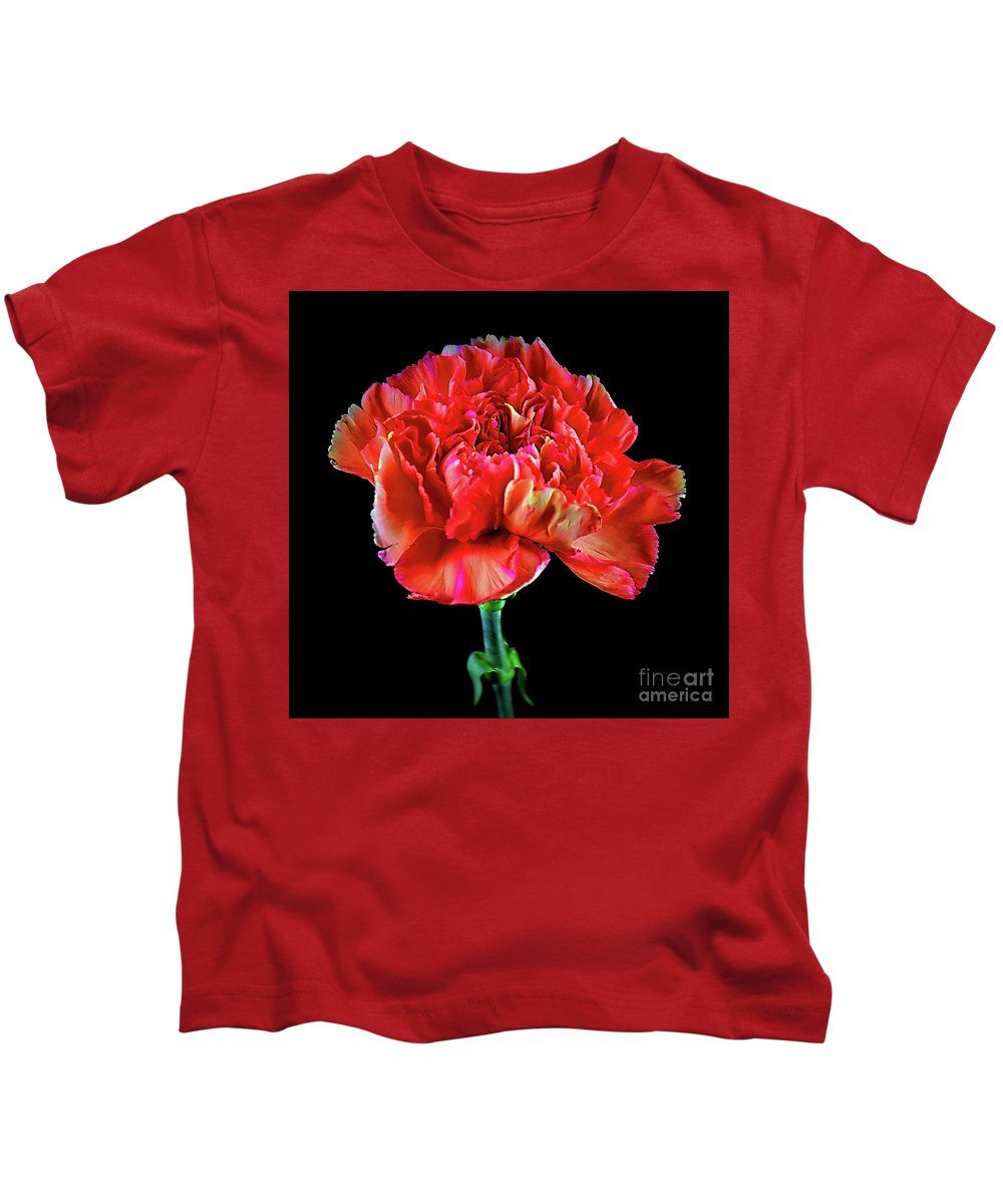 Lovely Carnation 12718-1 Kids T-Shirt featuring the photograph Lovely Carnation 12718-1 by Ray Shrewsberry