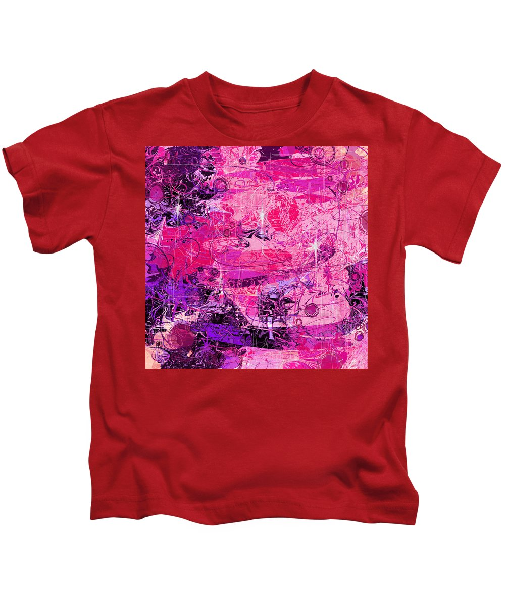Abstract Kids T-Shirt featuring the digital art Lovers by Rachel Christine Nowicki