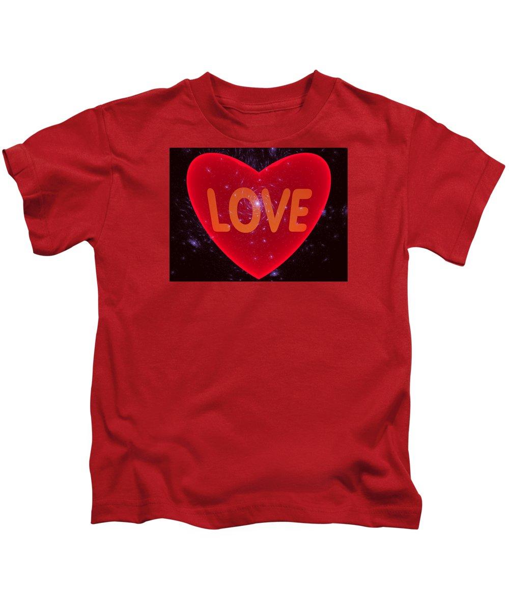 Love Kids T-Shirt featuring the digital art Loving Heart by Ernst Dittmar