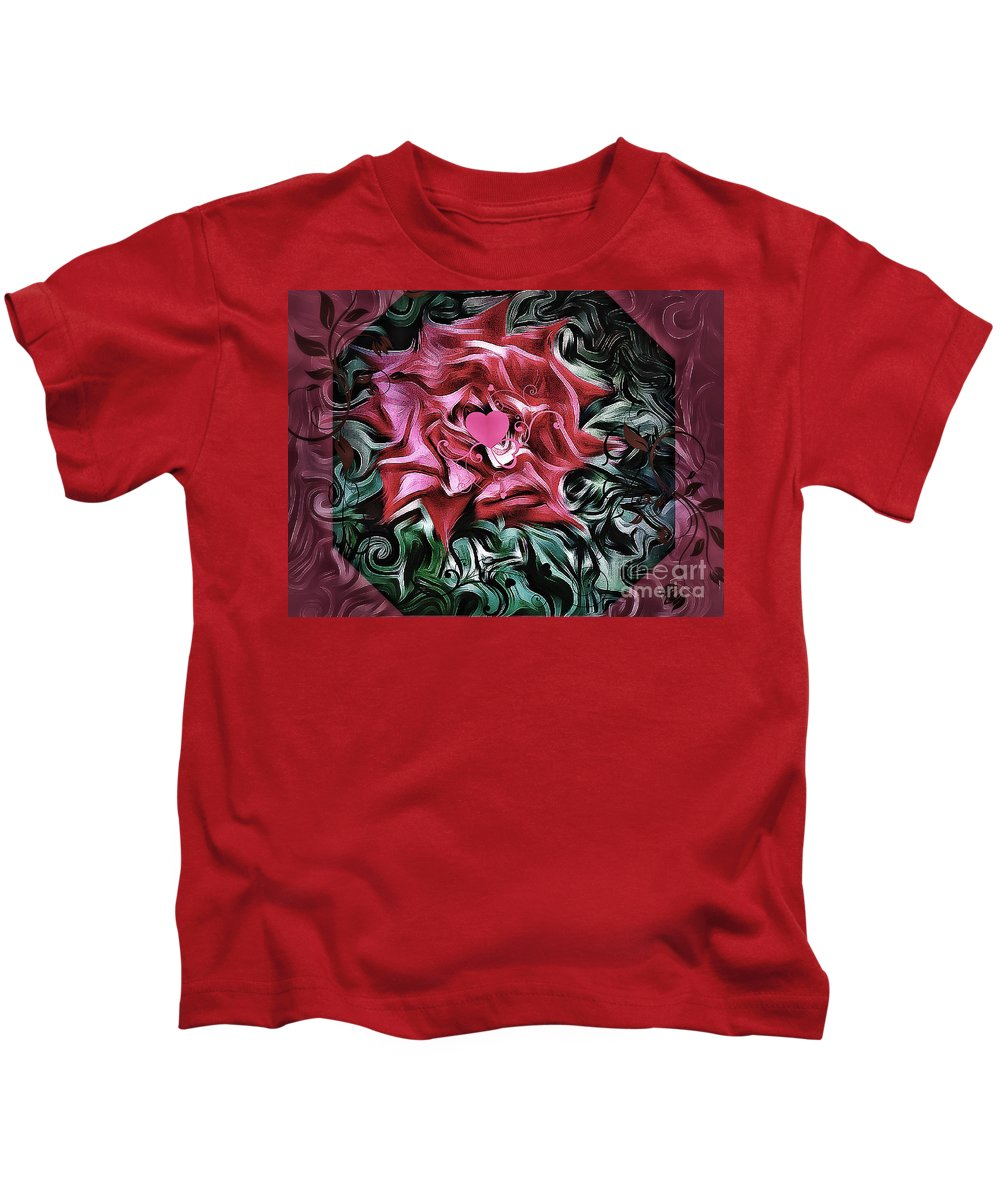 Loving Heart Kids T-Shirt featuring the photograph Loving Heart,oil by Olga Lyakh
